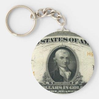 1922-Gold-Certificate-Gold Llavero Personalizado