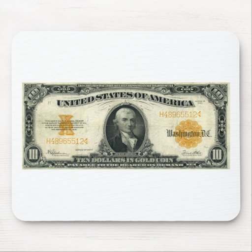 1922-Gold-Certificate-Gold Mouse Mats