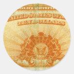 1922-Gold-Certificate Sticker