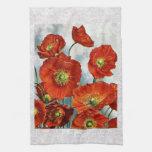 1922 Iceland Poppy Illustration Kitchen Towel