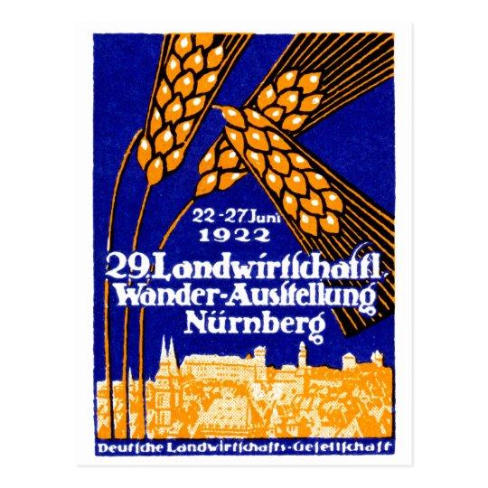 1922 Nuremberg Agricultural Exposition Postcard