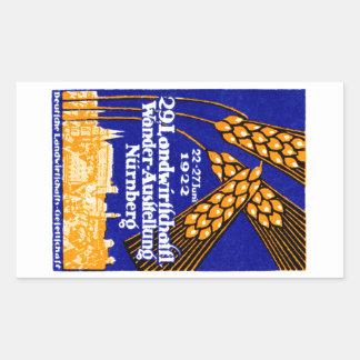 1922 Nuremberg Agricultural Exposition Rectangular Sticker