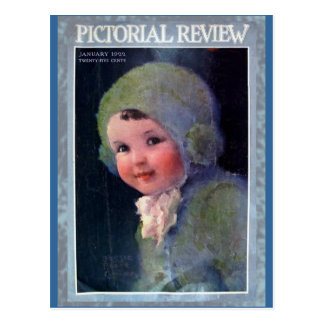 1922 Pictoral Review Cover Art on Cards Postcard