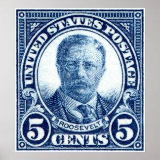 1922 Teddy Roosevelt Stamp Poster