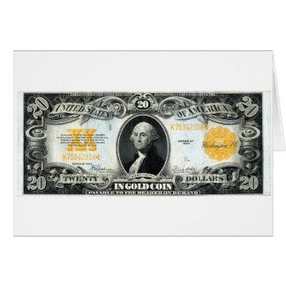 1922 US Gold Certificate Card
