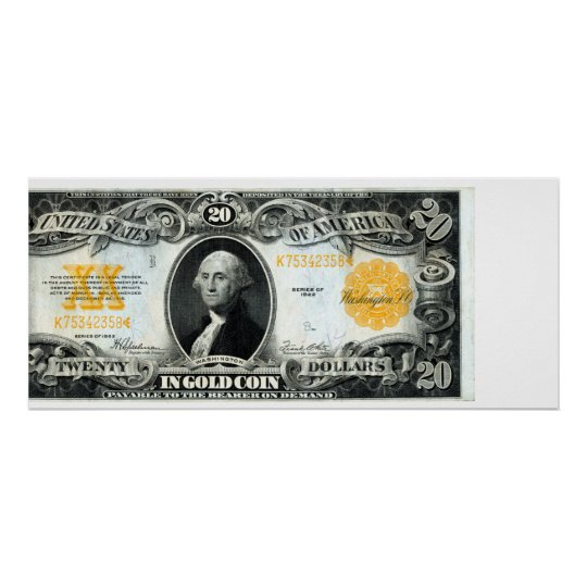 1922 US Gold Certificate Poster