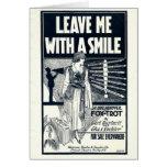 1922 vintage sheet music card