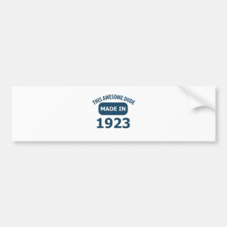 1923 birthday designs bumper sticker