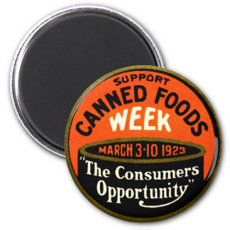 1923 Canned Foods Week 2 Inch Round Magnet