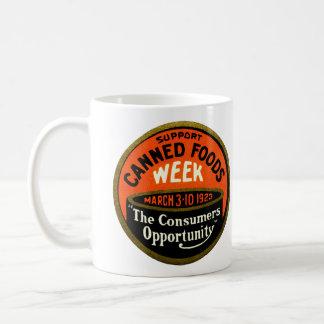 1923 Canned Foods Week Classic White Coffee Mug