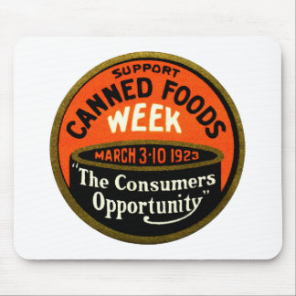 1923 Canned Foods Week Mouse Pad