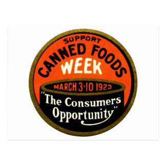 1923 Canned Foods Week Postcard