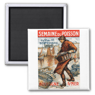 1923 Seafood Festival 2 Inch Square Magnet