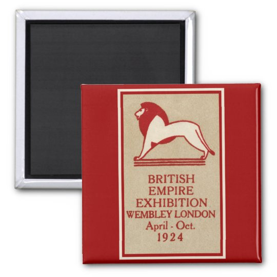 1924 British Empire Exhibition Poster Magnet