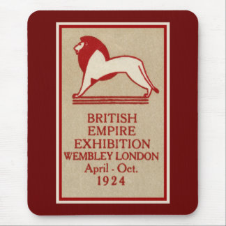 1924 British Empire Exhibition Poster Mouse Pad