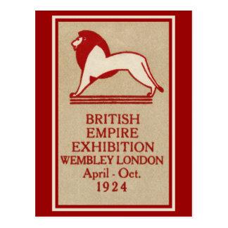 1924 British Empire Exhibition Poster Postcard