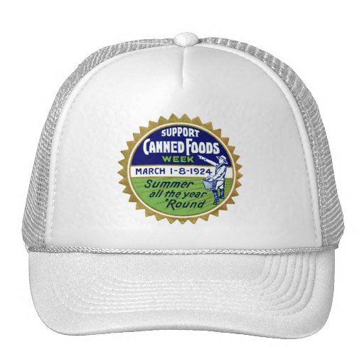 1924 Canned Foods Week Hats