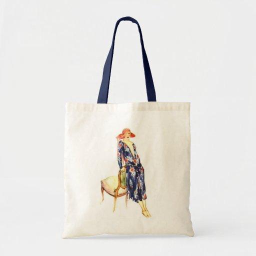 1924 Fashion Illustration Canvas Bags