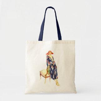 1924 Fashion Illustration Budget Tote Bag