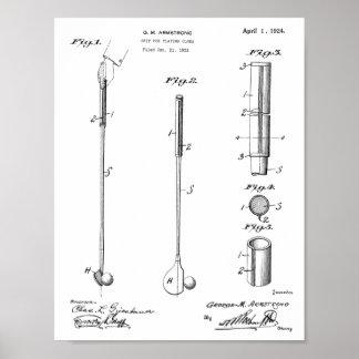 1924 Golf Club Grip Patent Art Drawing Print