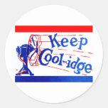 1924 guarde a Coolidge Pegatina Redonda