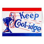 1924 guarde a Coolidge Tarjeton