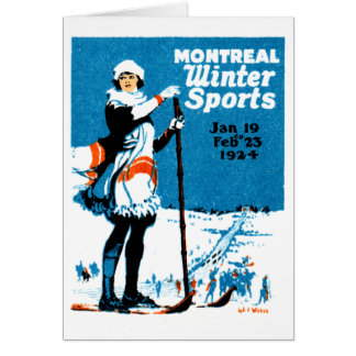 1924 Montreal Winter Sports Poster Card