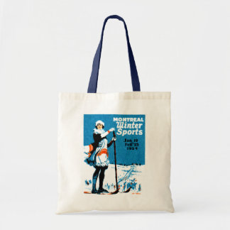 1924 Montreal Winter Sports Poster Tote Bag