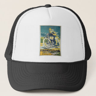 1924 motorcycle racing trucker hat