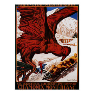 1924 Olympic Winter Games Poster