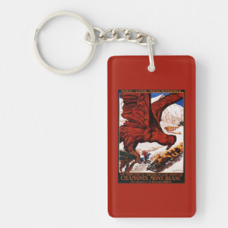 1924 Olympic Winter Games Poster Keychain