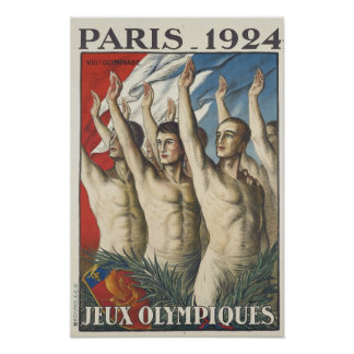 1924 Summer Olympics Poster