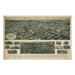 1924 Valley Stream NY Birds Eye View Panoramic Map Posters