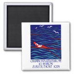 1924 Zurich Rowing Poster Magnets