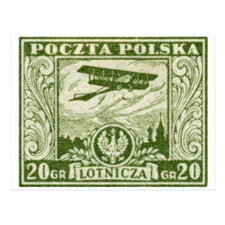 1925 20gr Polish Airmail Stamp Post Cards