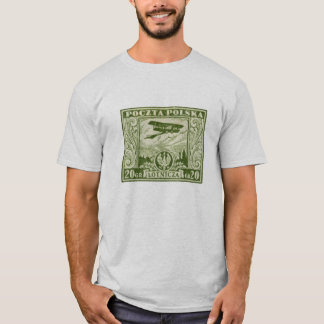 1925 20gr Polish Airmail Stamp T-Shirt