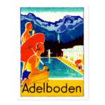 1925 Adelboden Switzerland Poster Post Card