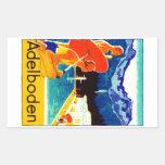 1925 Adelboden Switzerland Poster Rectangle Stickers