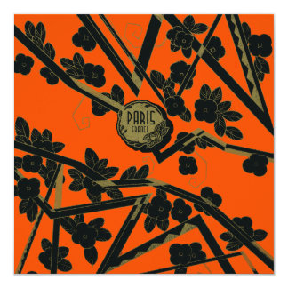 "1925 Art Deco Paris France perfume 5.25"" Square Invitation Card"