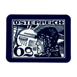 1925 Austrian Air Mail Rectangular Photo Magnet
