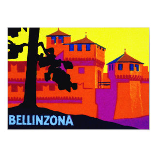 "1925 Bellinzona Switzerland 4.5"" X 6.25"" Invitation Card"