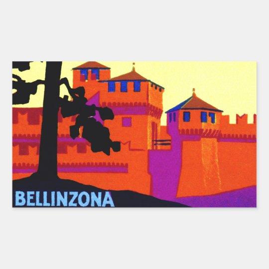 1925 Bellinzona Switzerland Rectangular Sticker