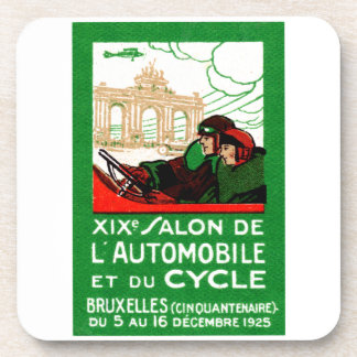 1925 Brussels Automotive Exposition Beverage Coasters