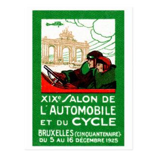 1925 Brussels Automotive Exposition Postcard