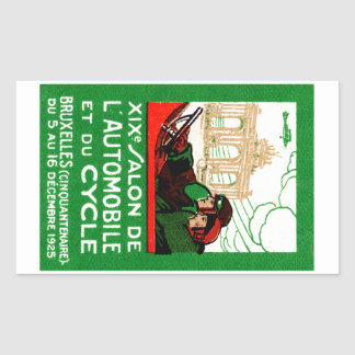 1925 Brussels Automotive Exposition Stickers