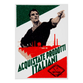 1925 Buy Italian Products Poster
