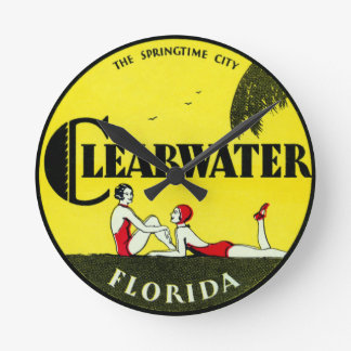 1925 Clearwater Florida Round Clock