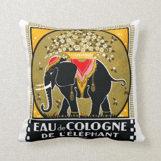 1925 Cologne De L'Elephant Throw Pillows