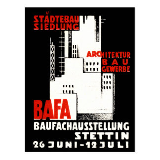 1925 Construction Exposition Poster Post Card