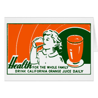1925 Drink Orange Juice Card